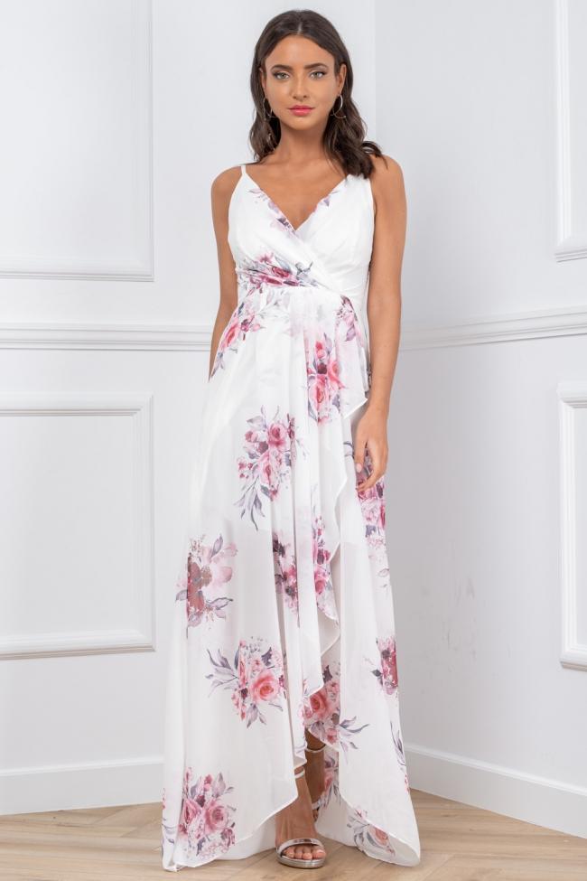 Φόρεμα Floral με Ενίσχυση
