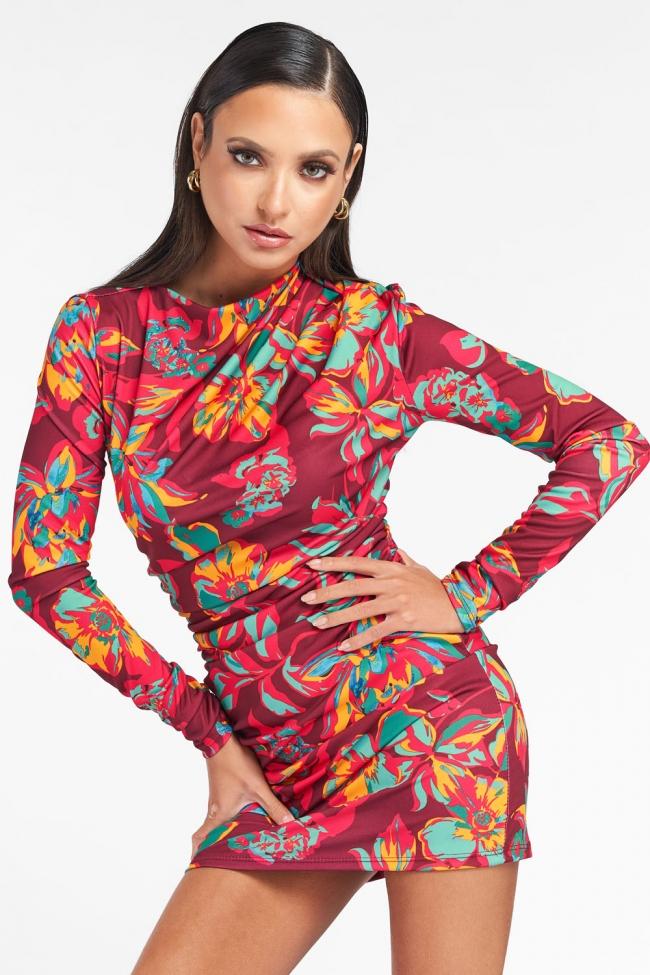 Φόρεμα Floral με Σούρες