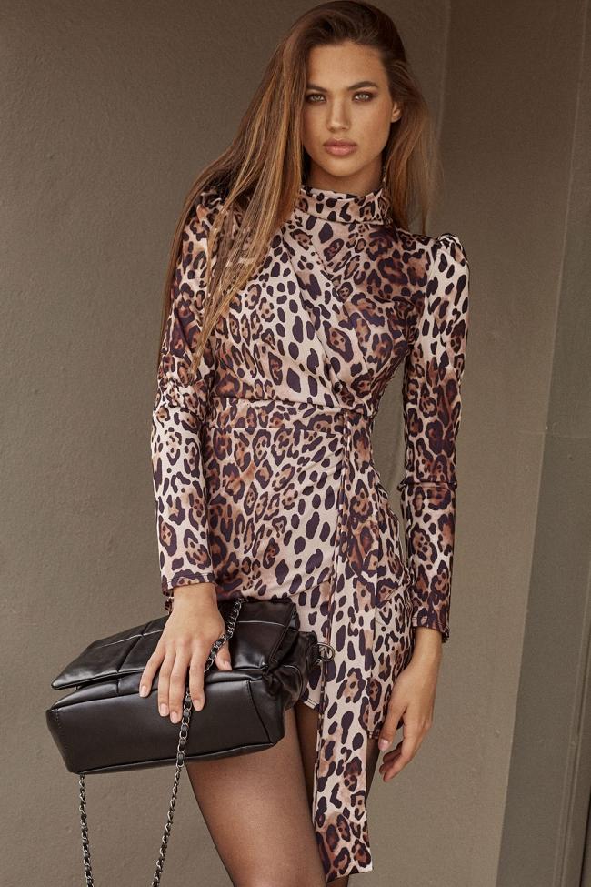 Φόρεμα Κρουαζέ Animal Print