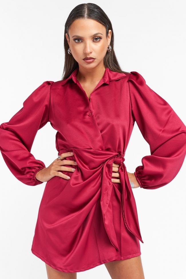 Φόρεμα Κρουαζέ με Δέσιμο