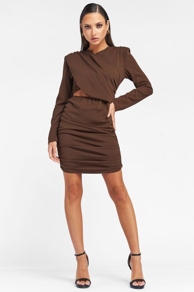 Φόρεμα με Ανοιγμα και Σούρες