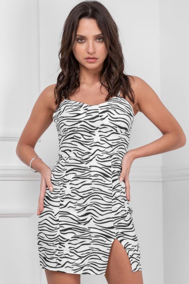 Φόρεμα με Ενίσχυση Animal Print