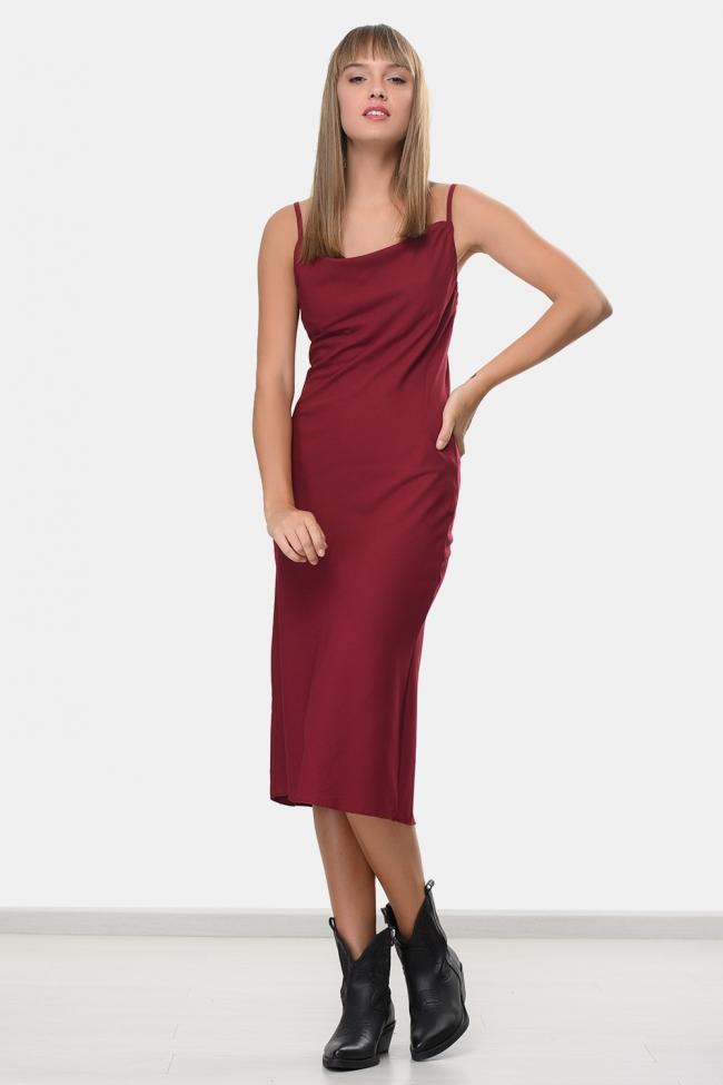 Φόρεμα Midi Τιραντάκι