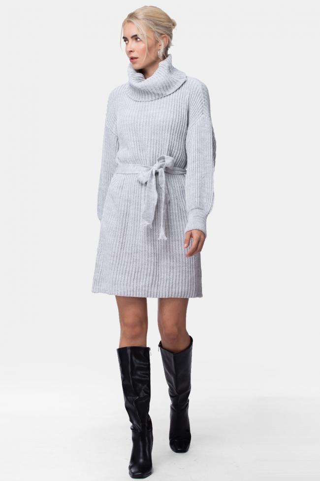 Φόρεμα Πλεκτό με Ζωνάκι