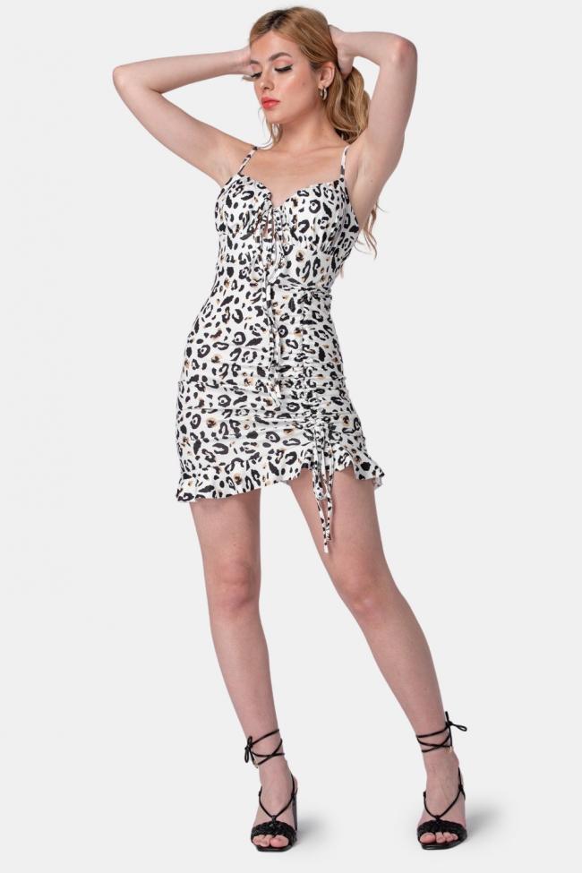 Φόρεμα Ριπ Animal Print