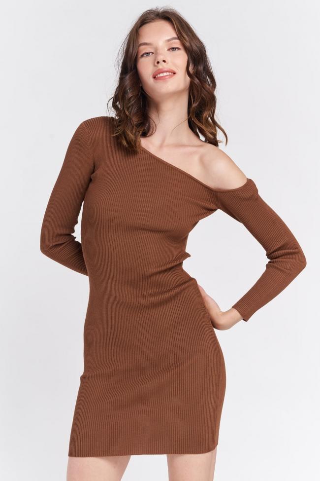 Φόρεμα Ριπ με Εναν Ωμο