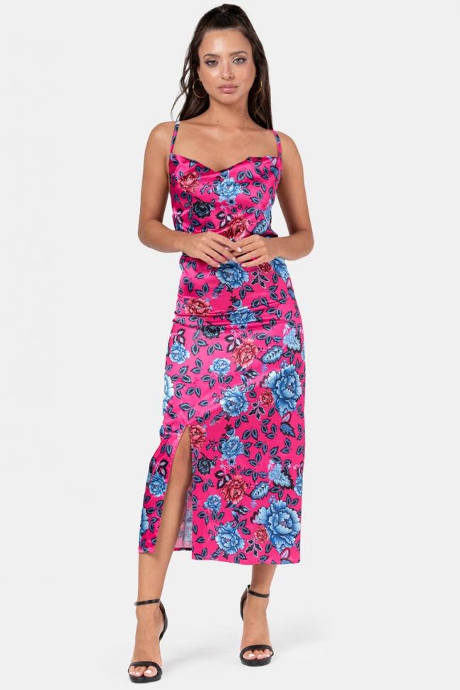 Φόρεμα Satin Floral