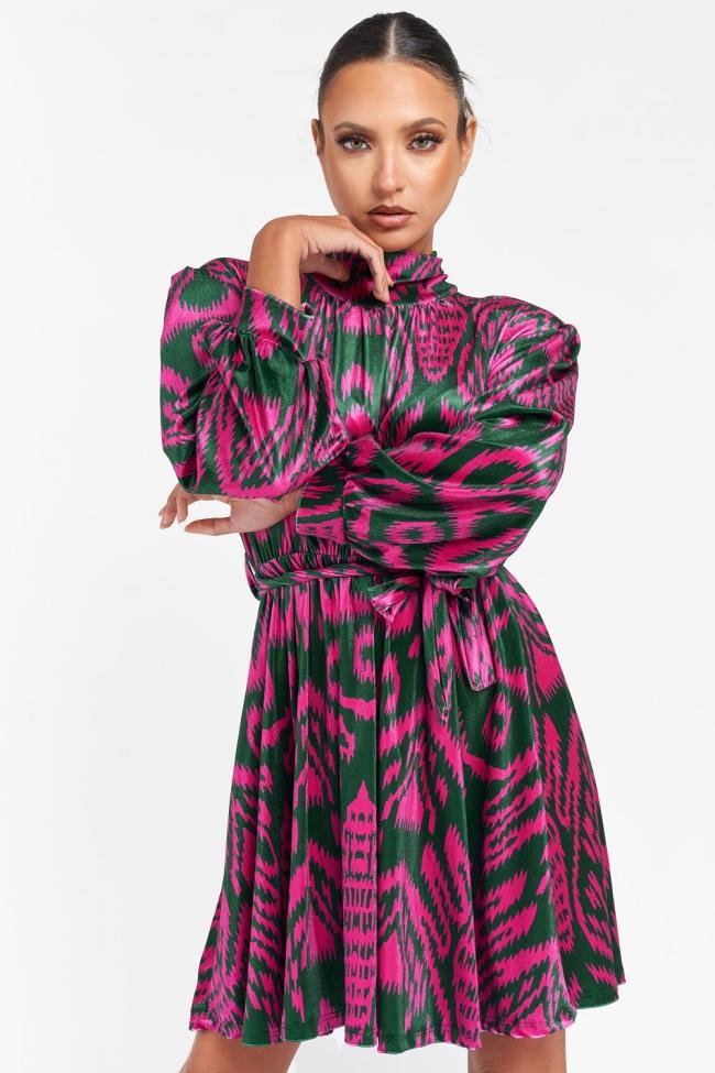 Φόρεμα Velvet με Ζωνάκι