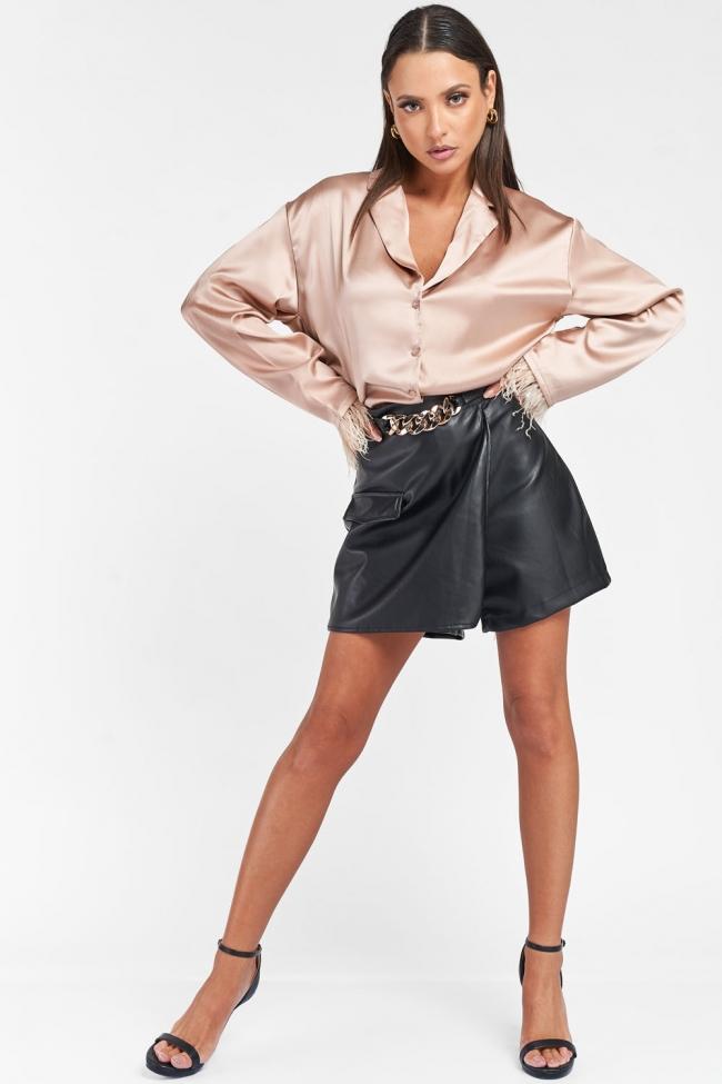 Φούστα-Shorts Δερματίνη
