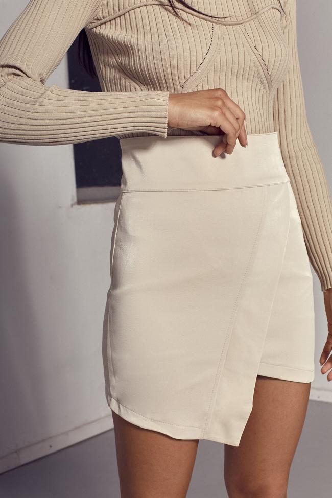 Φούστα-Shorts Ψηλόμεσο Δερματίνη