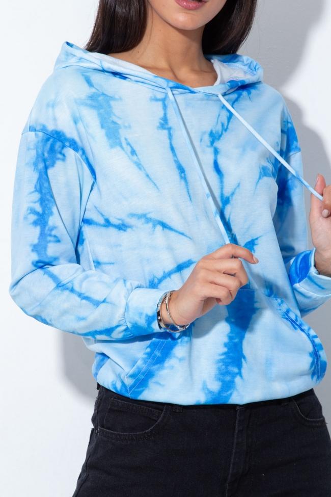 Μπλούζα Tie Dye με Κουκούλα