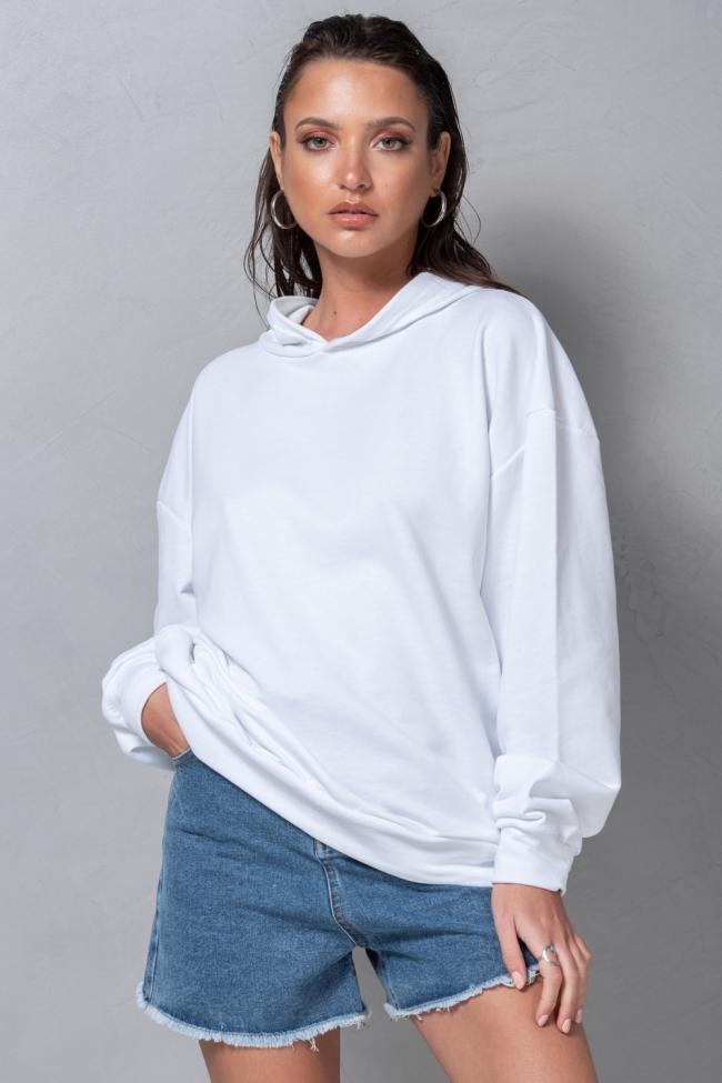 Μπλουζοφόρεμα Φούτερ με Τσέπες