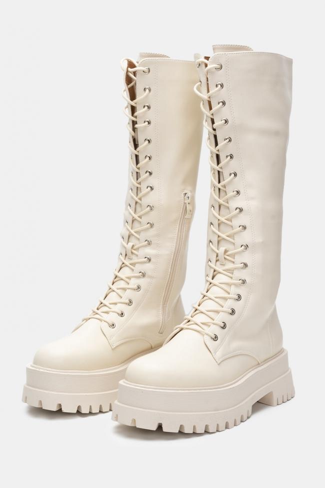 Μπότες Δερματίνη Δίπατες