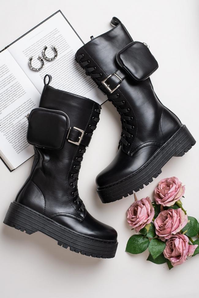 Μπότες Δερματίνη με Beltbag