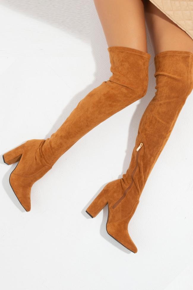 Μπότες Suede Over The Knee