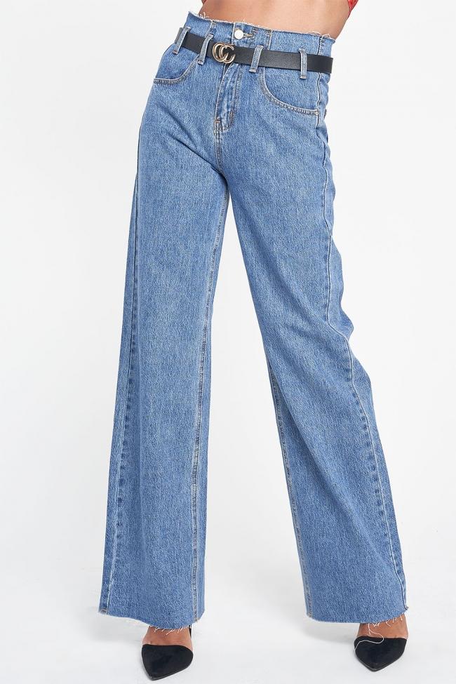 Παντελόνα Jean Ψηλόμεση με Ζωνάκι