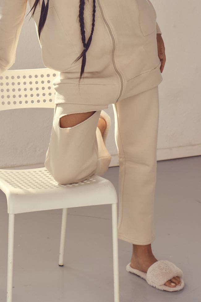 Παντελόνι Φούτερ με Σκίσιμο