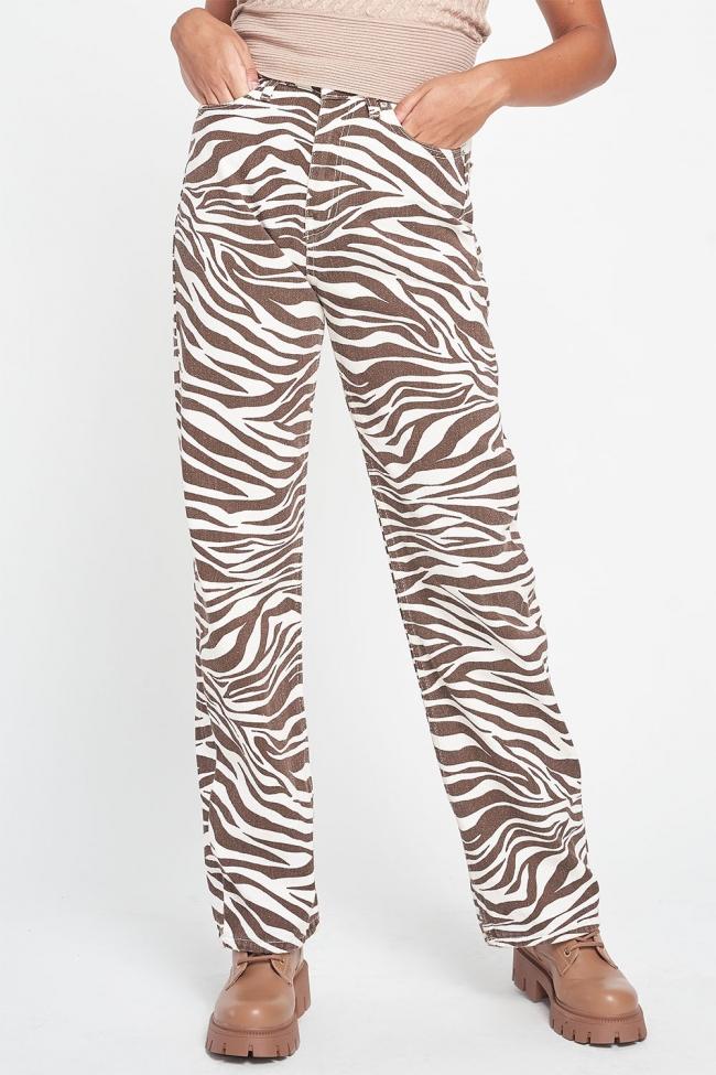 Παντελόνι Jean Ψηλόμεσο Animal Print