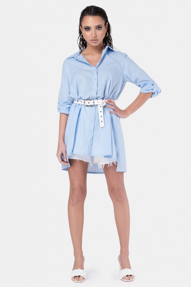 Πουκάμισο Φόρεμα Λινό
