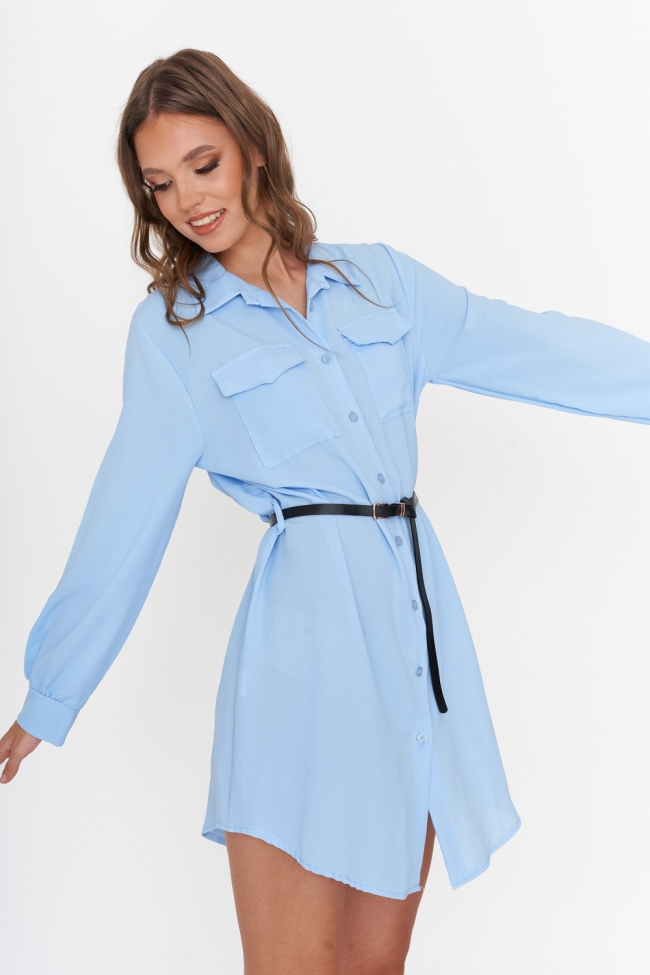 Πουκάμισο Φόρεμα με Ζωνάκι