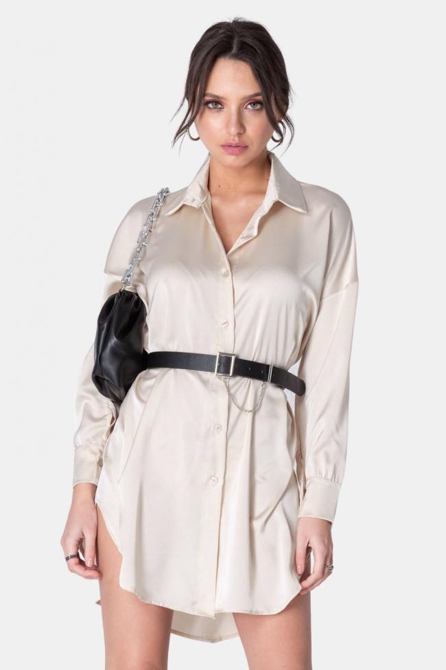 Πουκάμισο Φόρεμα Satin