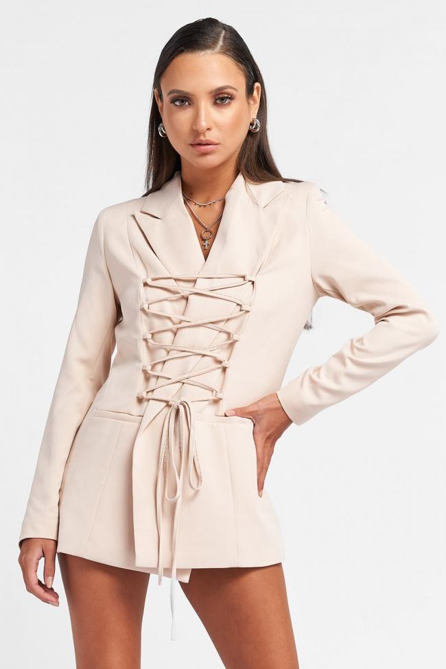 Σακάκι-Φόρεμα με Δέσιμο