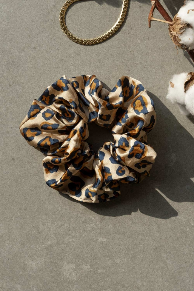 Scrunchies Satin Animal Print