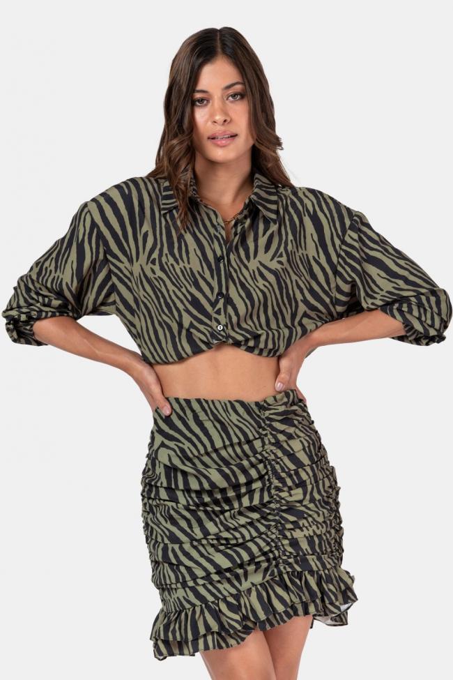 Set Μπλούζα & Φούστα Animal Print