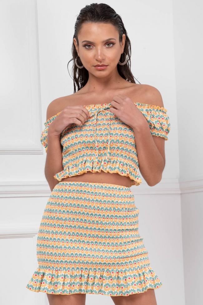 Set Μπλούζα & Φούστα Floral