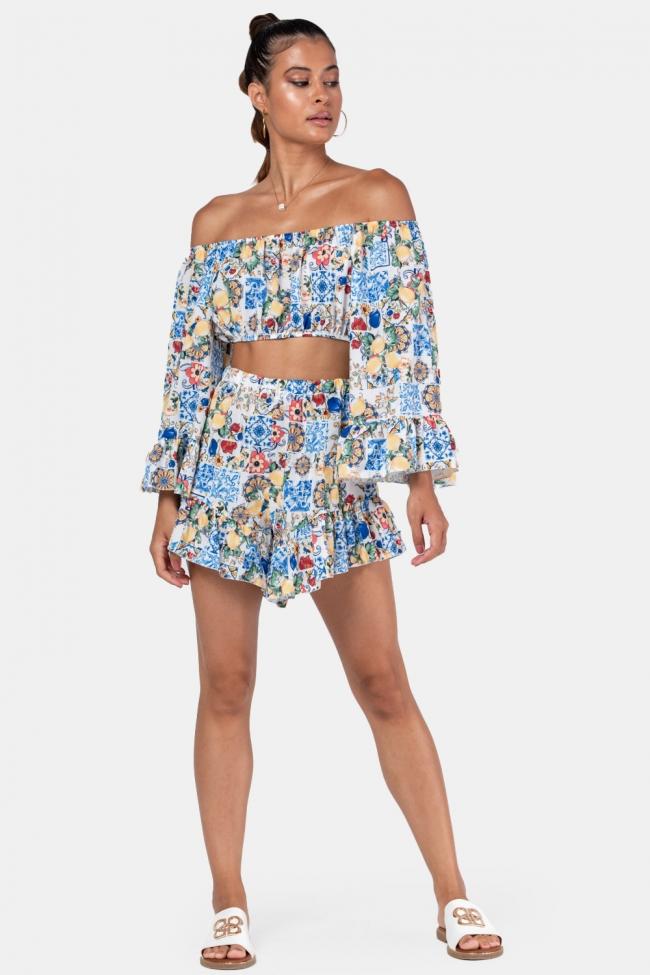 Set Top & Shorts floral