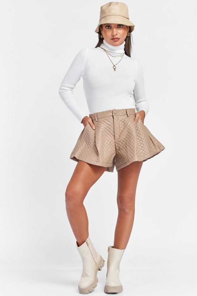 Shorts Δερματίνη Ψηλόμεσο