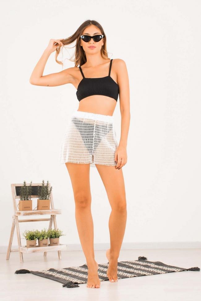 Shorts με διάτρητο σχέδιο