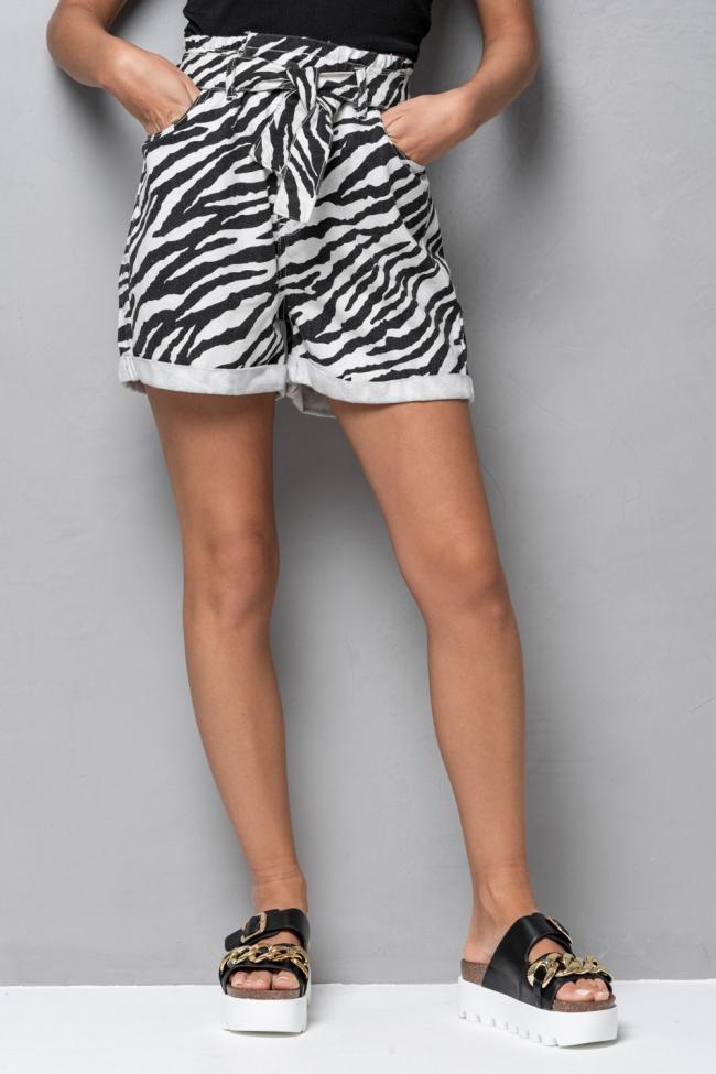 Shorts Ψηλόμεσο Animal Print