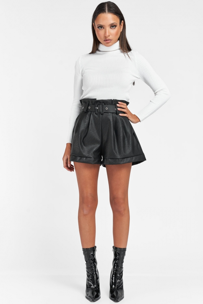 Shorts Ψηλόμεσο με Ζωνάκι