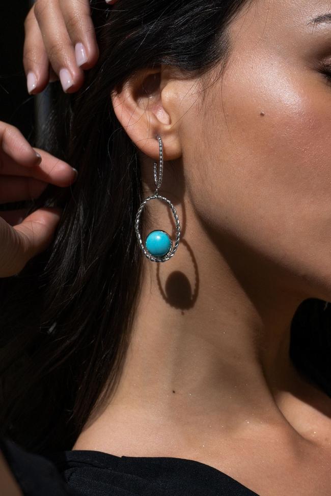 Σκουλαρίκια με Πέτρα