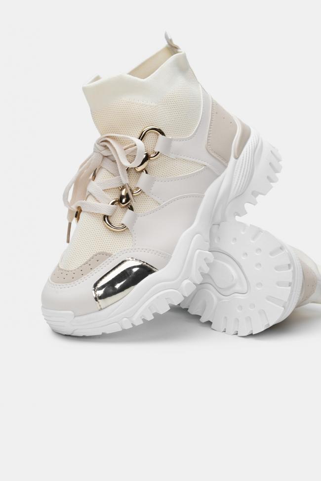 Sneakers Δίπατα με Κάλτσα