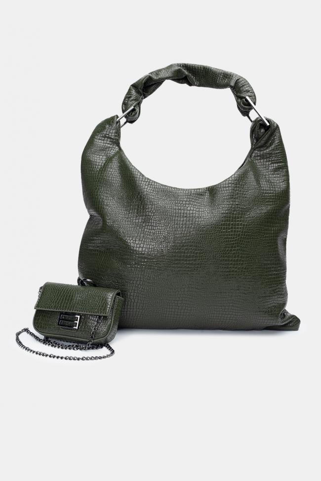 Τσάντα Ωμου Croco